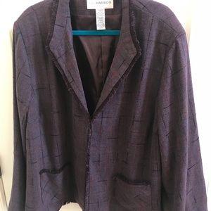 NEW Sag Harbor Purple Blazer Size 24W